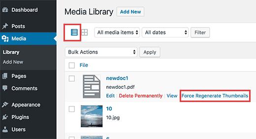 Generating thumbnail for a single PDF file in WordPress