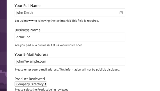 Adding submit your review form in WordPress