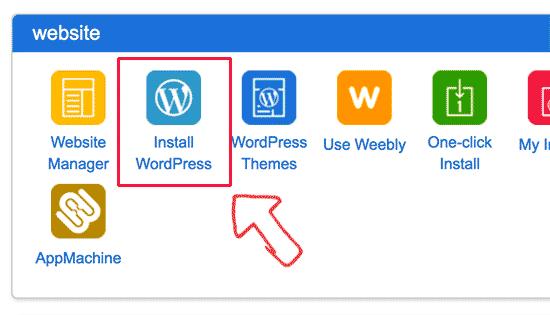 Installeer WordPress