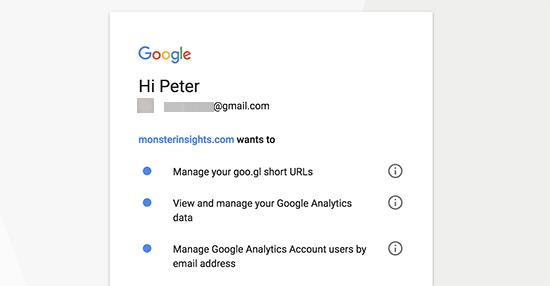 Permiteți MonsterInsights să acceseze contul dvs. Google Analytics