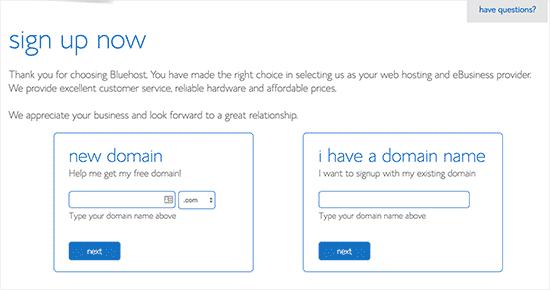 Selecteer domeinnaam