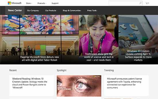 Microsoft News Center