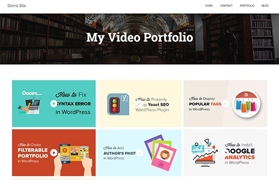Video portfolio preview