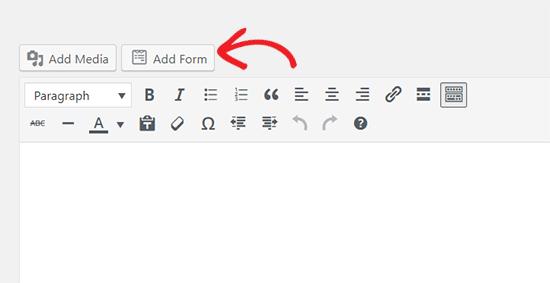 Add form button