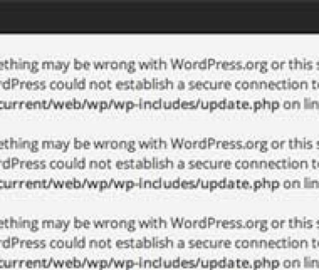 Secure Connection Error In WordPress