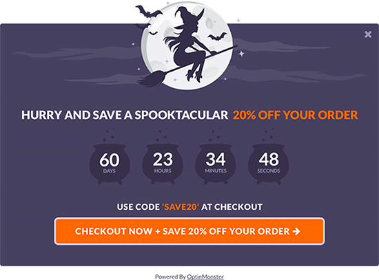 Spooktacular theme for Halloween campaigns