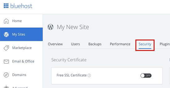 SSL gratis Bluehost