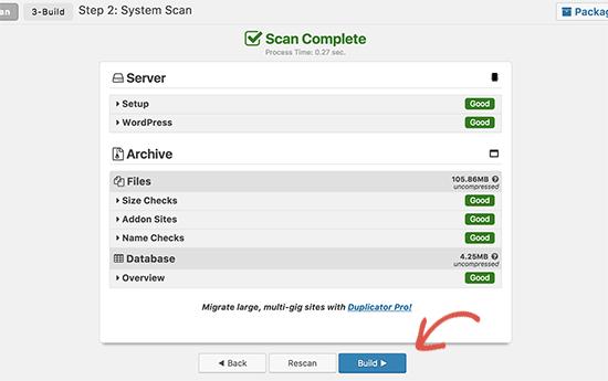 Сборка пакета Duplicator для переключения на новое доменное имя