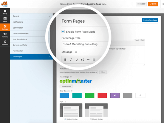 Form Pages by WPForms