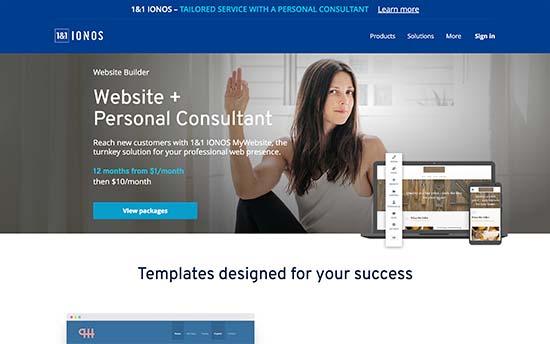 1 & 1 IONOS Создание сайтов