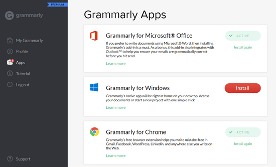 Grammarly Apps