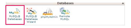 MySQL database icon in cPanel
