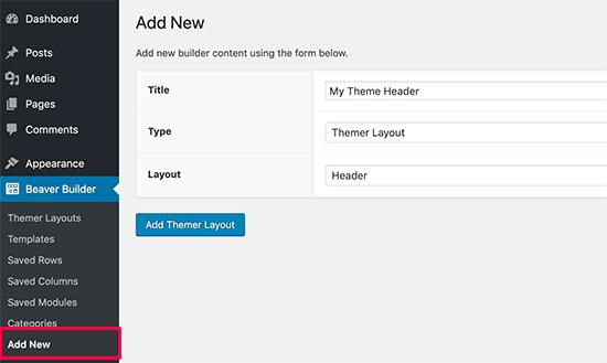 Creating a custom header layout