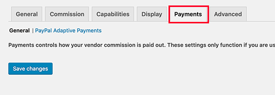 WC Vendors payments