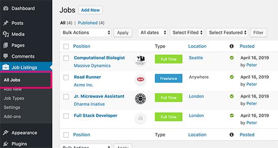 All Jobs