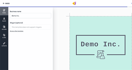 Editing your logo with Hatchful