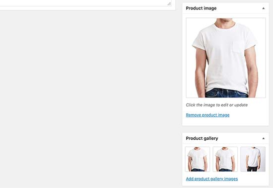 Product images and gallery