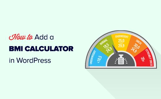 Adding a BMI calculator to your WordPress website