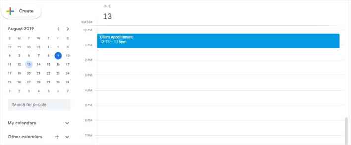 appointments plugin integrates with google calendar