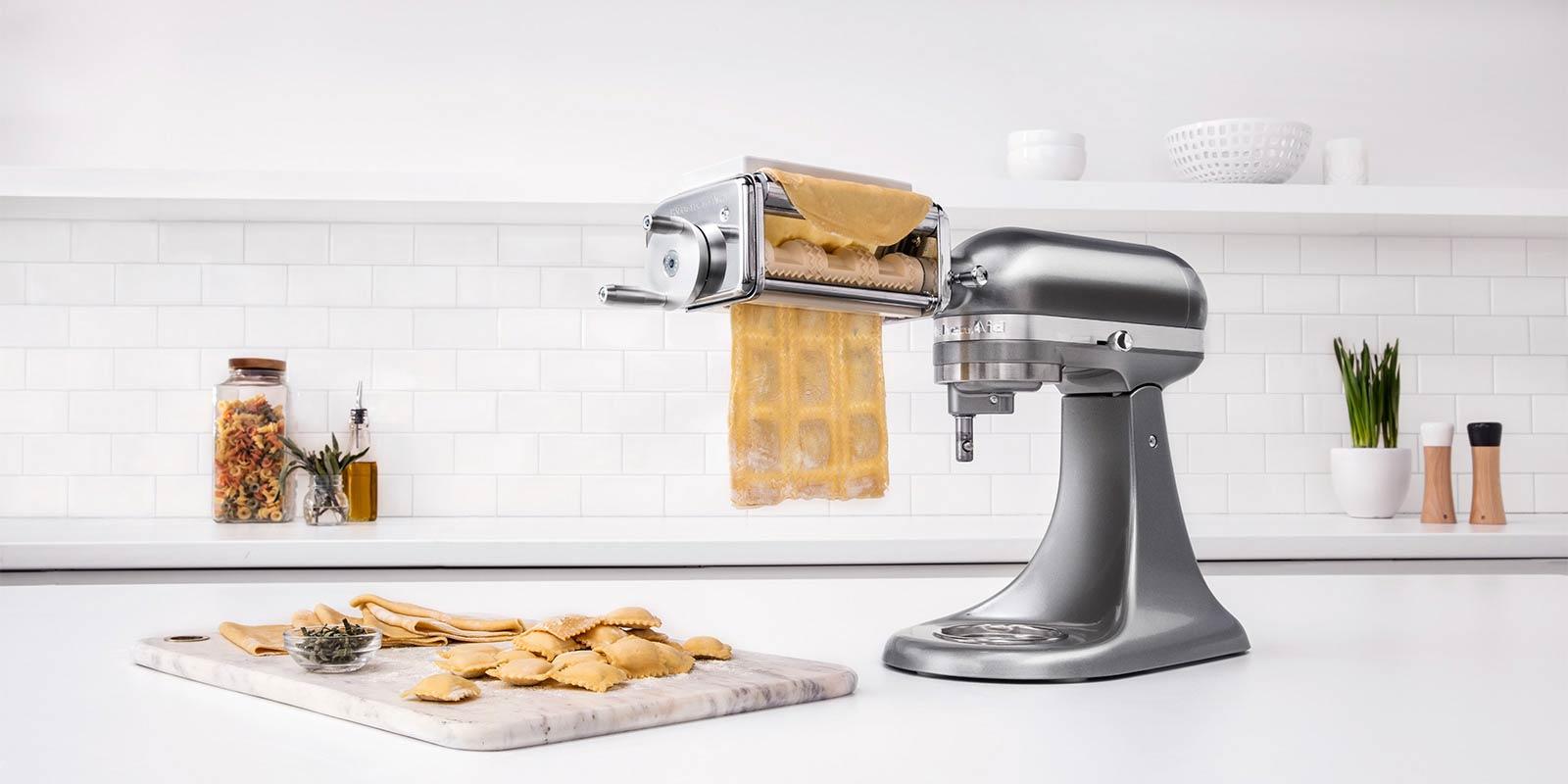 kitchen aid pasta roller trash compactor ravioliaufsatz 5krav   offizielle website von kitchenaid
