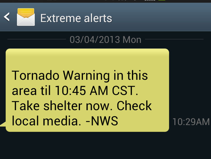 False Tornado Warning Sent To Cell Phone Users Wisconsin