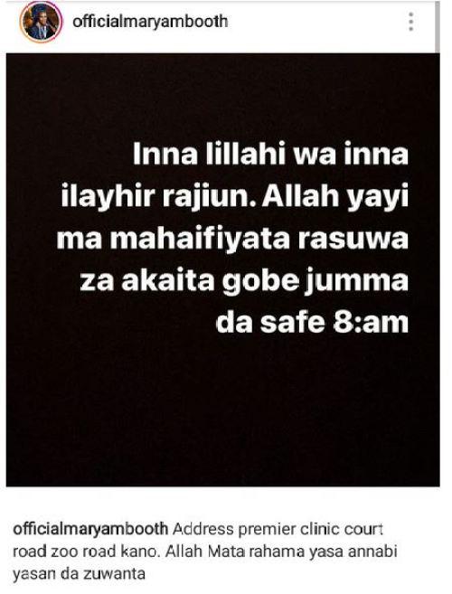 Zainab Booth death