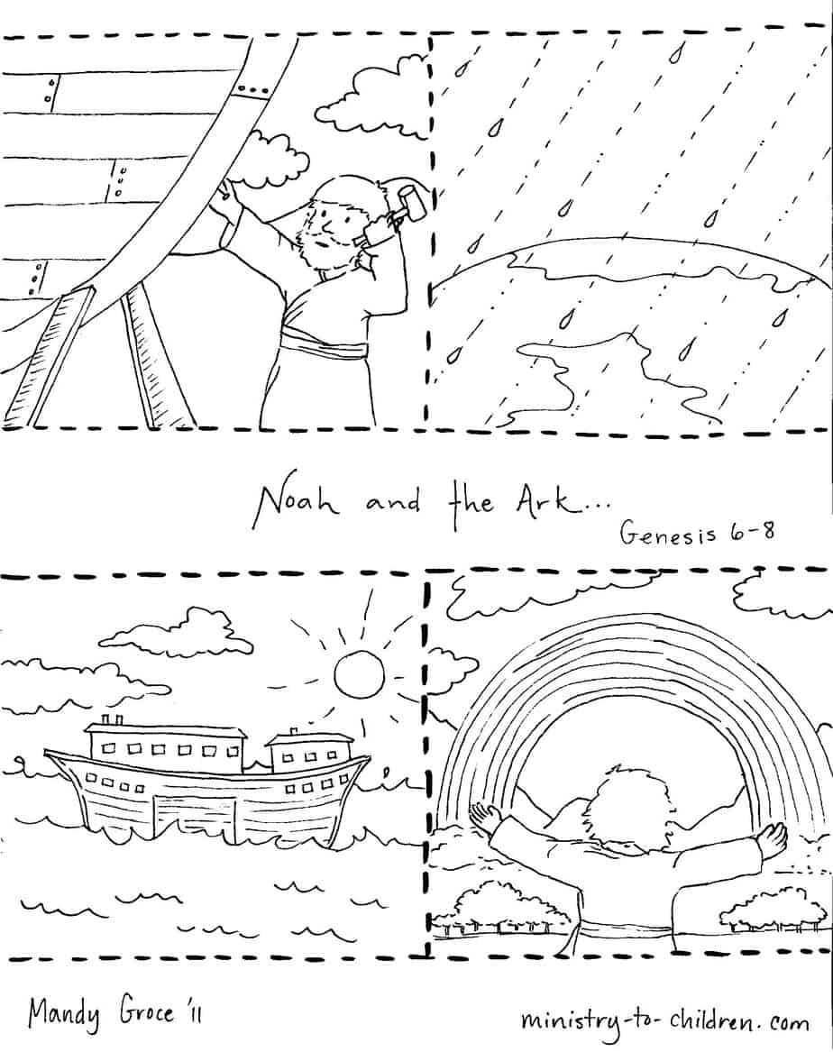Noah and the Ark Coloring Pages