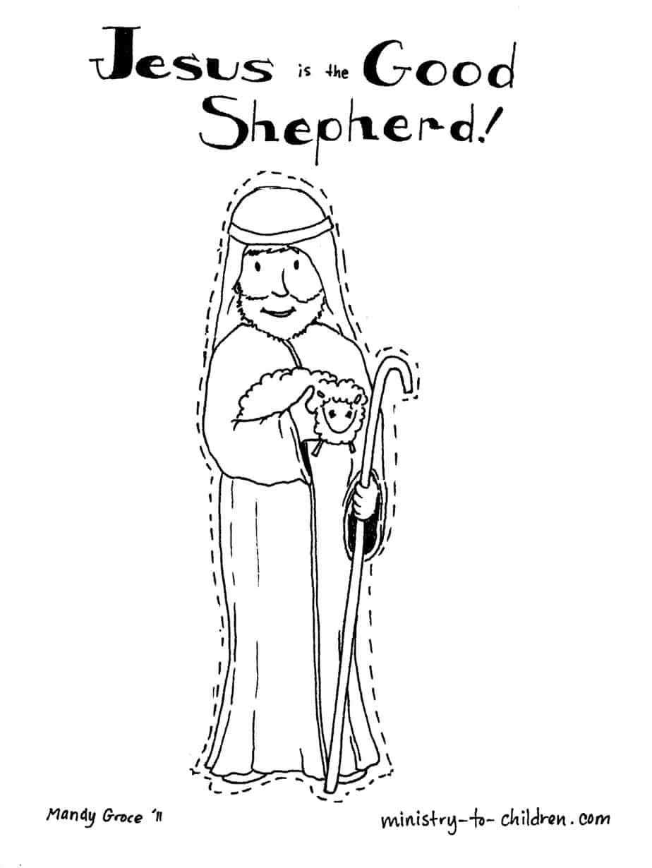 Jesus is the Good Shepherd Coloring Page