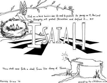 """Book of Isaiah"" Bible Coloring Page"