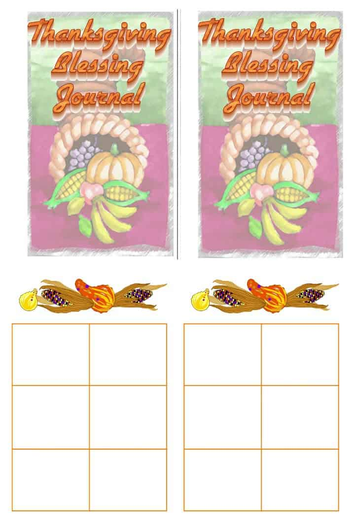 Thanksgiving Blessing Journal