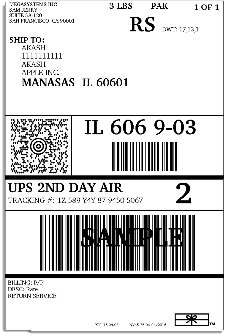 Ups Package Tracking Number Example