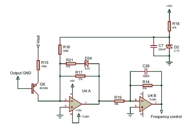 100w subwoofer amplifier circuit diagram mazda b2200 electrical wiring you can diy an ecological power supply for amplifiers figure 7 the linear feedback enables switching frequency to be proportional output voltage
