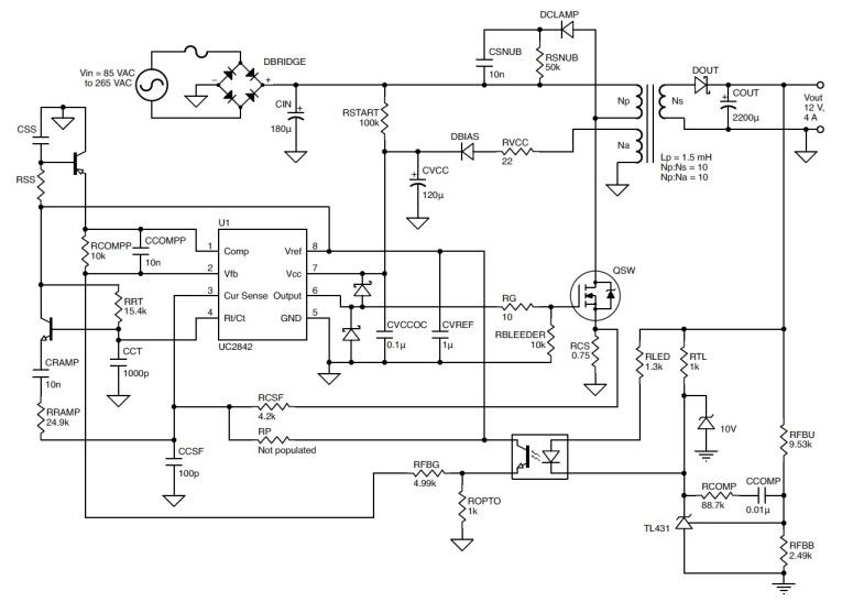 schematic diagram below multiple output smps circuit