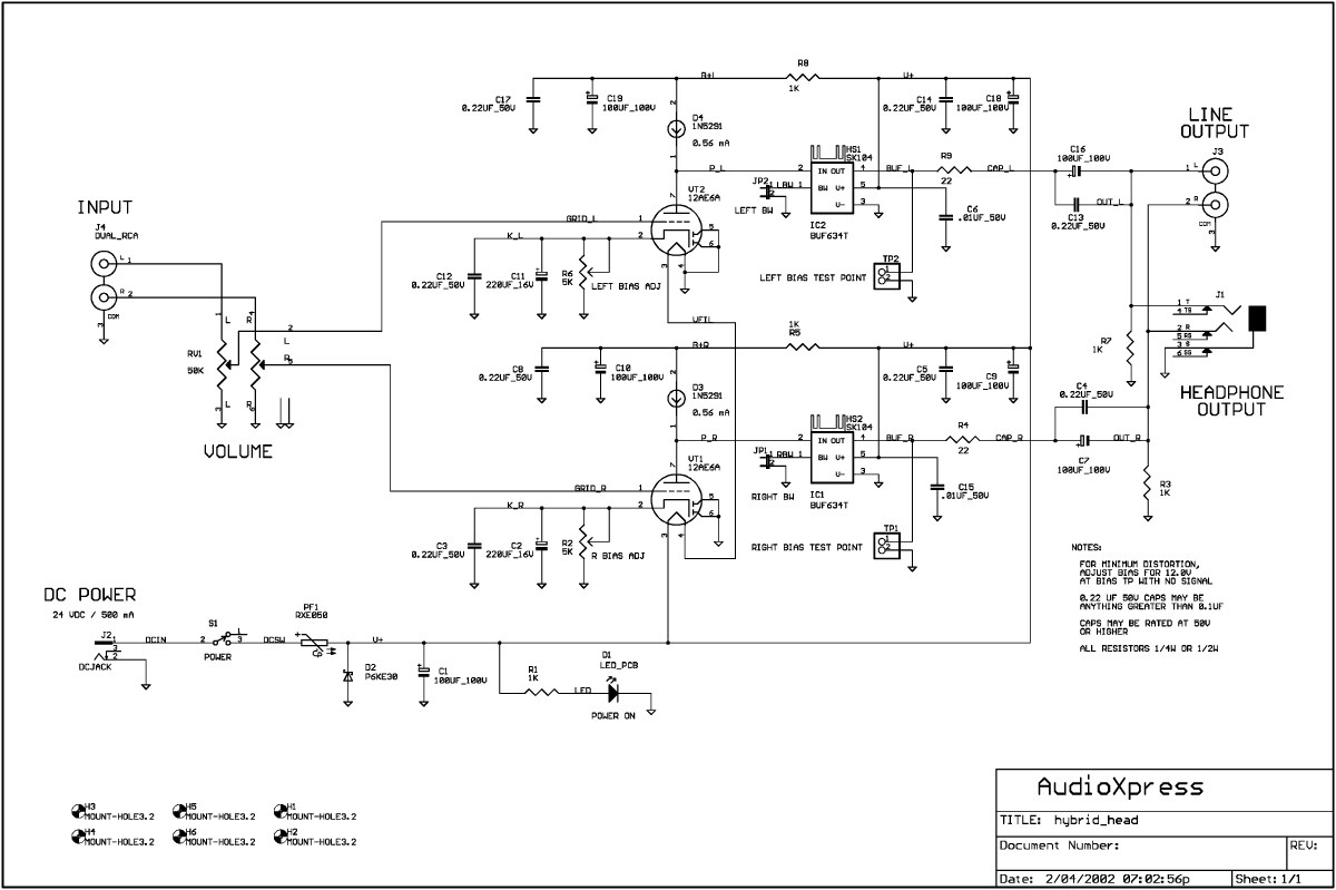 hight resolution of build a low voltage tube hybrid headphone line amp audioxpress hybrid headphone amplifier circuit diagram