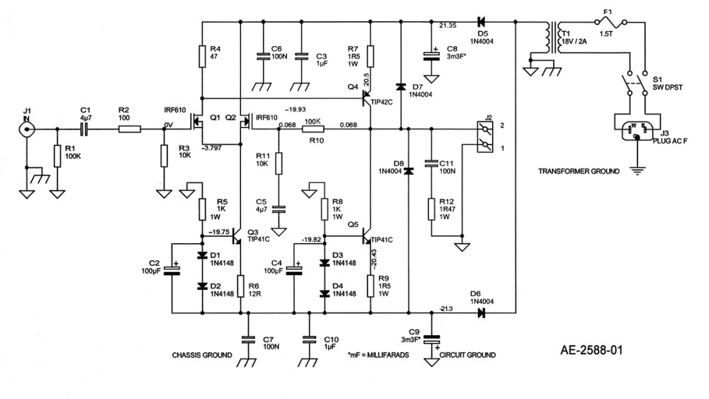 medium resolution of new electronic fractional frequency power amplifier circuit diagram a solid state single ended power amp audioxpress