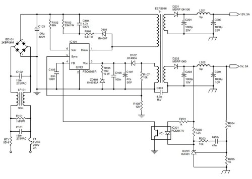 small resolution of tl594 12v dc switch mode power supply rise circuit diagrams free repairing switching mode power supplies