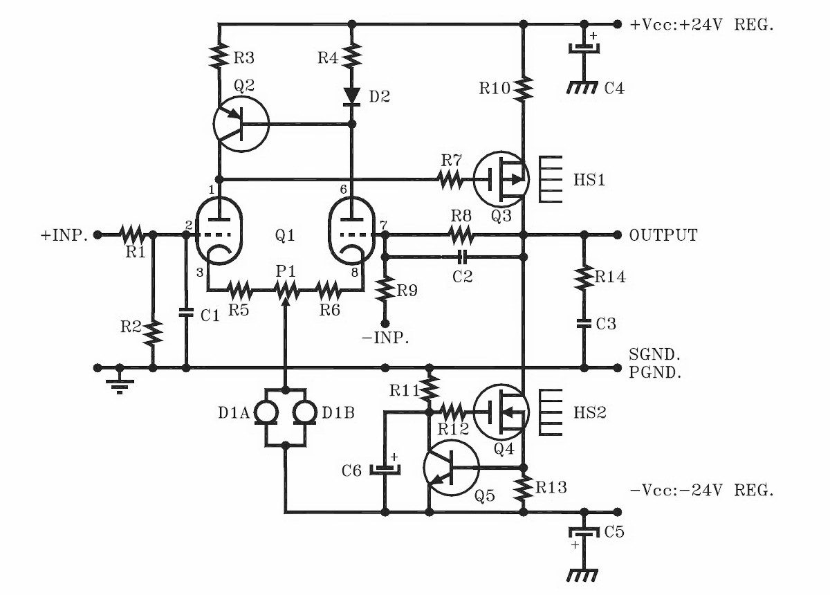 hight resolution of a hybrid tube mosfet headphone amplifier audioxpress hybrid headphone amplifier circuit diagram