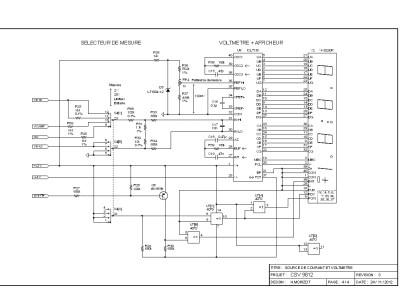 Adjustable DC current source with integrated hi-z DVM