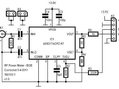 RF Power Meter with seperate RF break-out-board [160193