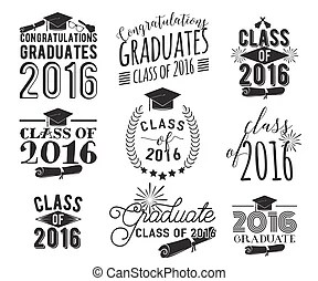 Class of 2019 congratulations graduate typography with