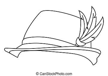 Freehand drawn black and white cartoon robin.