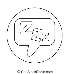 Sleep sign icon. moon with zzz button. standby. gray