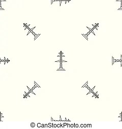 Telegraph pole Vector Clip Art Illustrations. 142