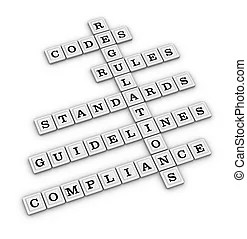 Risk management crossword (new business concept) drawings