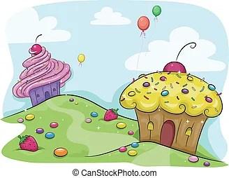 candy land clip art vector