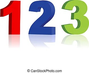 wooden colorful numbers 1