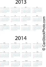 Calendar 2012, 2013, 2014, 2015, 2016, 2017.