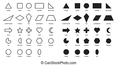 Image of shapes chart for kids vector isolate on white.