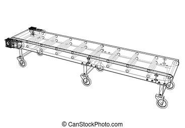 Belt conveyor system Illustrations and Clip Art. 861 Belt