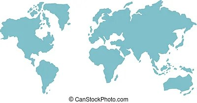 white world map on